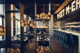 AnA interieur M EATERY Mechelen restaurant hout staal licht uai Interieur Architecten | Mechelen | Design Studio Anneke Crauwels