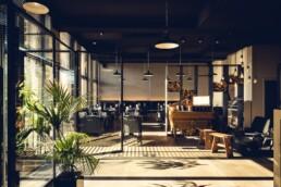 AnA interieur M EATERY Mechelen restaurant staal hout plant uai Interieur Architecten | Mechelen | Design Studio Anneke Crauwels