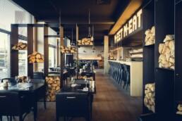 AnA interieur M EATERY Mechelen restaurant hout2019 uai Interieur Architecten | Mechelen | Design Studio Anneke Crauwels