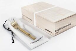 V8016006G koichi cutlery tableforkbrassbrushed b Interieur Architecten | Mechelen | Design Studio Anneke Crauwels