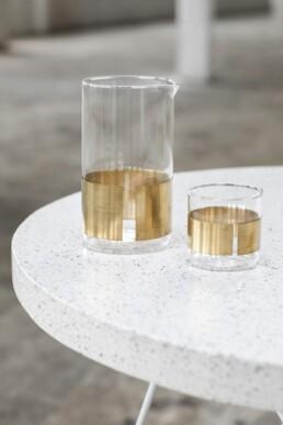 Glazen met koperen band | Niels Datema | Designer | Serax | Shop | Design Studio Anneke Crauwels