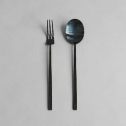 011310 KOGEI SALAD SET BLACK 1600px uai | Design Studio Anneke Crauwels | Interieur | Mechelen